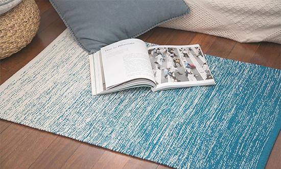 海天一色 印度进口全棉地毯