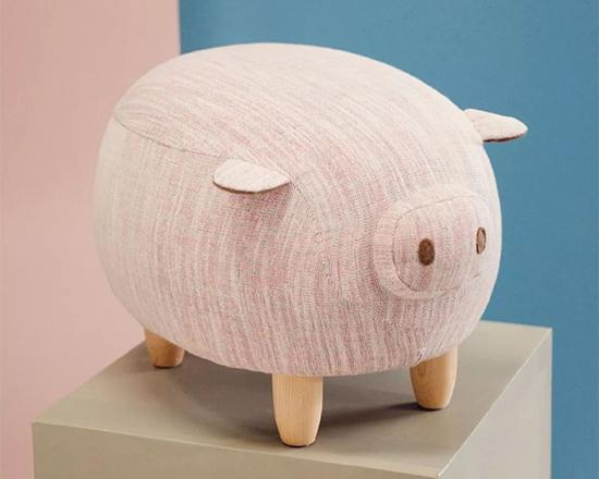 可爱小猪坐墩