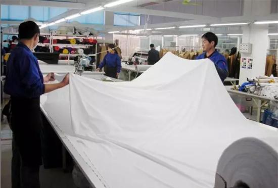 布料制造现场