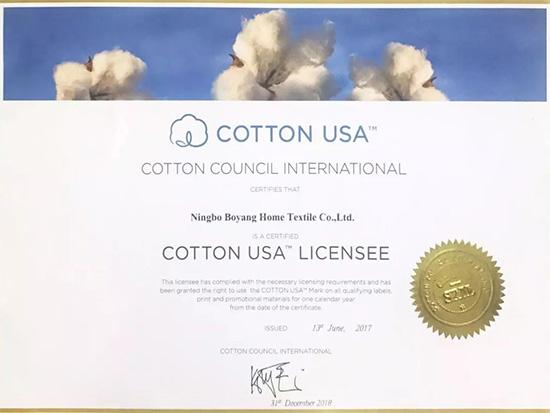博洋家纺的棉床品获COTTON USA美棉认证
