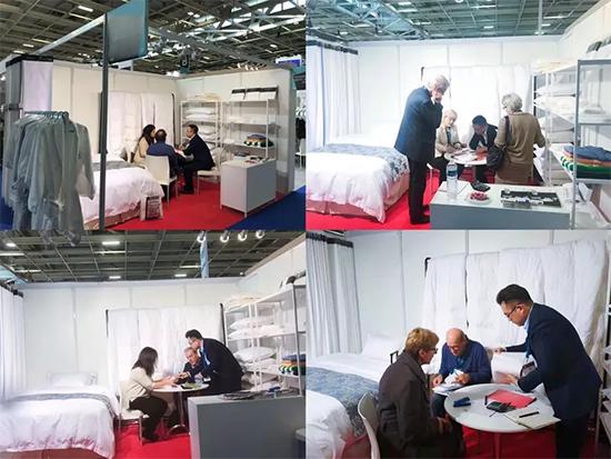 雅兰纺织集团国际贸易团队远赴法国,携雅兰高品质酒店布草参展