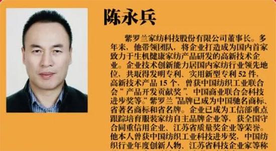 """陳永兵董事長入選改革開放40年南通優秀民營企業家"""""""