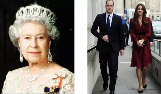 英国伊丽莎白女王威廉王子和凯特王妃
