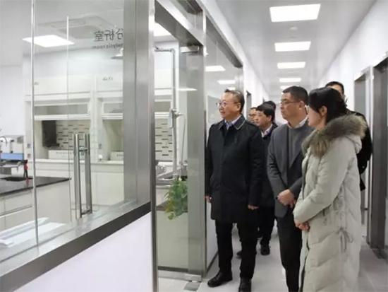 走访参观博洋家纺检测中心和办公区
