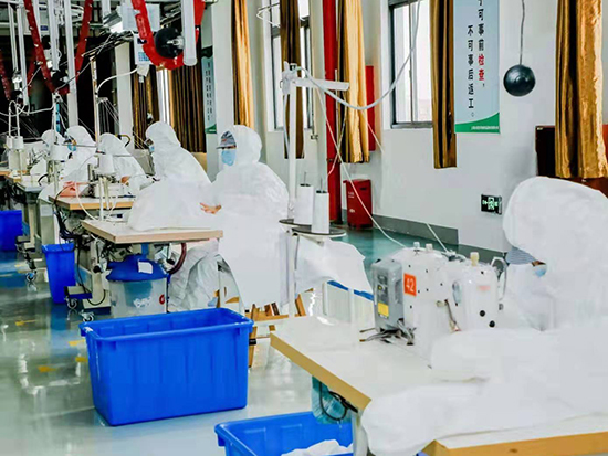 奉贤一家纺企业今起转产生产防护服,日产?量预计超2000件
