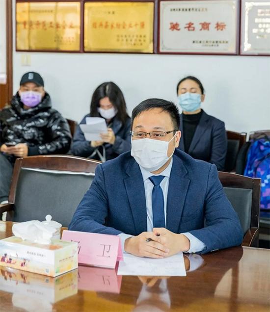 浙江金蝉布艺股份有限公司总经理杨卫