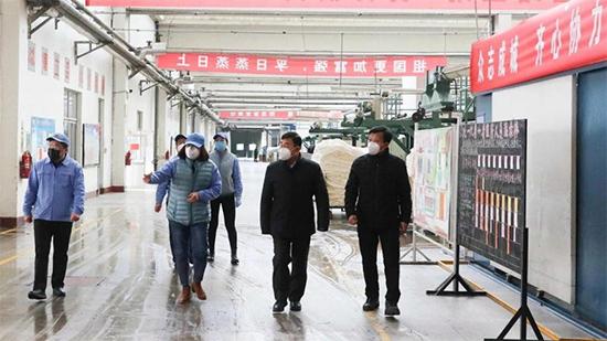 孙日贵董事长视察防控与复工情况